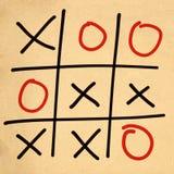 jeu de l'orteil XO de tac de tic d'illustration Image libre de droits