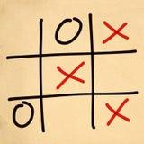 jeu de l'orteil XO de tac de tic d'illustration Image stock