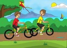 Jeu de la bicyclette Photographie stock