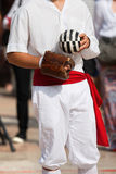 Jeu de la boule avec le bracelet - Treia Italie Images stock