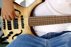 Jeu de la guitare Photo stock