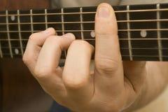 Jeu de la guitare Photo stock