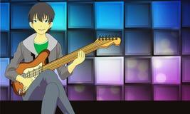 Jeu de la guitare illustration libre de droits