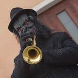 Jeu de la trompette photographie stock libre de droits