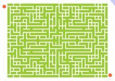 Jeu de labyrinthe Photographie stock libre de droits