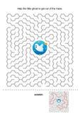 Jeu de labyrinthe de Veille de la toussaint pour des gosses Photo stock