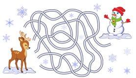 Jeu de labyrinthe de Noël Images stock