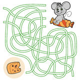 Jeu de labyrinthe pour des enfants (souris) Photo libre de droits