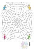 Jeu de labyrinthe pour des gosses Photo stock