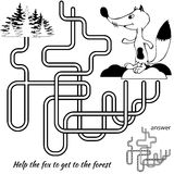 Jeu de labyrinthe pour des gosses Image libre de droits