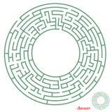 Jeu de labyrinthe pour des gosses Images libres de droits