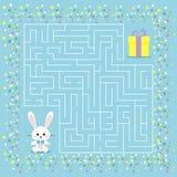 Jeu de labyrinthe pour les enfants avec un labyrinthe illustration libre de droits