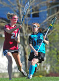 Jeu de Lacrosse des filles HS Photographie stock