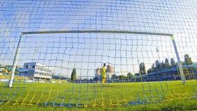 Jeu de ligue première de l'Ukraine entre Olimpic Donetsk et Zorya Luhansk Image libre de droits
