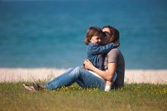 Jeu de mère et de descendant Photographie stock libre de droits