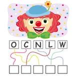 Jeu de mots avec le clown Image libre de droits