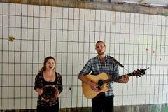 Jeu de musiques dans le Vondelpark à Amsterdam Photographie stock libre de droits