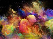 Jeu de nébuleuse de l'espace Image stock
