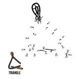 Jeu de nombres : instruments de musique (triangle) Photographie stock libre de droits