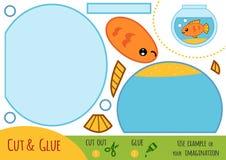 Jeu de papier d'éducation pour des enfants, aquarium illustration libre de droits