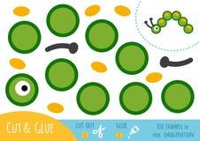 Jeu de papier d'éducation pour des enfants, Caterpillar illustration libre de droits