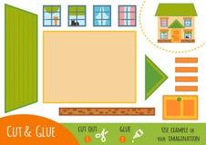 Jeu de papier d'éducation pour des enfants, Chambre illustration de vecteur