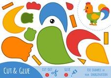 Jeu de papier d'éducation pour des enfants, coq illustration libre de droits