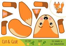 Jeu de papier d'éducation pour des enfants, Fox illustration de vecteur