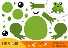 Jeu de papier d'éducation pour des enfants, grenouille illustration de vecteur
