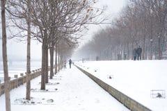 Jeu de personnes dans la neige Image libre de droits