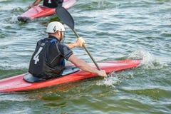 Jeu de polo de kayak à Rome images stock