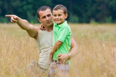 Jeu de père et de fils Photographie stock