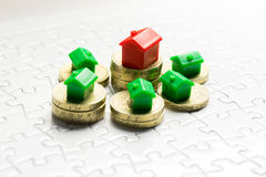 Jeu de propriété et de marché de l'immobilier Image libre de droits