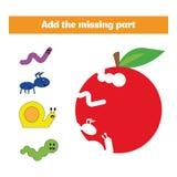 Jeu de puzzle Jeu éducatif visuel pour des enfants Tâche : trouvez les pièces absentes Fiche de travail pour les enfants préscola photographie stock libre de droits