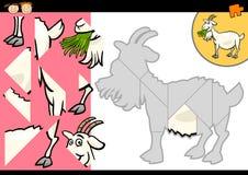 Jeu de puzzle de chèvre de ferme de bande dessinée Image libre de droits