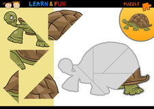 Jeu de puzzle de tortue de dessin animé Photo stock