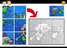 Jeu de puzzle denteux d'étrangers de bande dessinée Image libre de droits