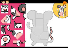Jeu de puzzle denteux de souris de bande dessinée Image libre de droits