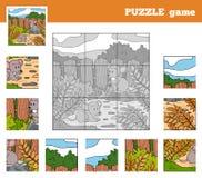 Jeu de puzzle pour des enfants avec des animaux (souris) Image libre de droits