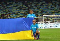 Jeu 2014 de qualificateur de coupe du monde de la FIFA Ukraine v Angleterre Images stock