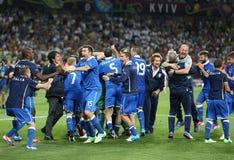 Jeu 2012 de quart de finale d'EURO de l'UEFA Angleterre v Italie Images libres de droits