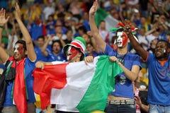 Jeu 2012 de quart de finale d'EURO de l'UEFA Angleterre v Italie Image stock