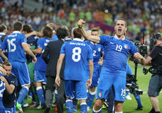 Jeu 2012 de quart de finale d'EURO de l'UEFA Angleterre v Italie Photographie stock libre de droits