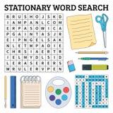 Jeu de recherche stationnaire de mot pour des enfants Illustration de vecteur pour le le Photographie stock