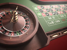 Jeu de roulette Photos stock