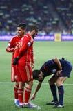 Jeu 2016 de série éliminatoire d'EURO de l'UEFA Ukraine contre l'Espagne Images stock