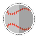 jeu de sport de boule de base-ball de bande dessinée Image libre de droits