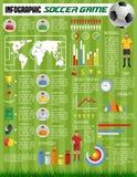 Jeu de sport du football du football d'infographics de vecteur illustration de vecteur