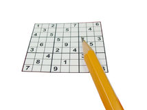 Jeu de sudoku Photos stock