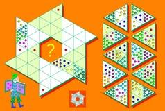 Jeu de Sudoku de logique dans les triangles Devez accomplir le puzzle utilisant les détails restants Images libres de droits